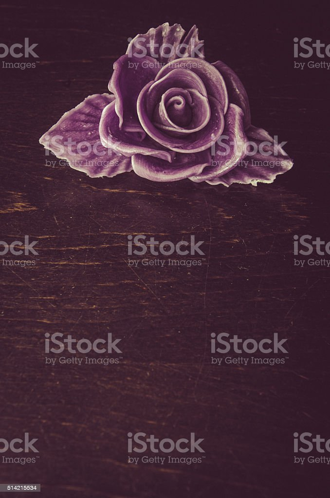 funeral concept with rose flower stock photo