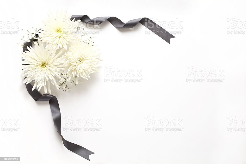 Funeral flowers stock photo