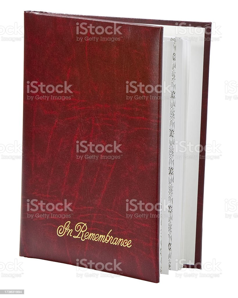 funeral guest book royalty-free stock photo