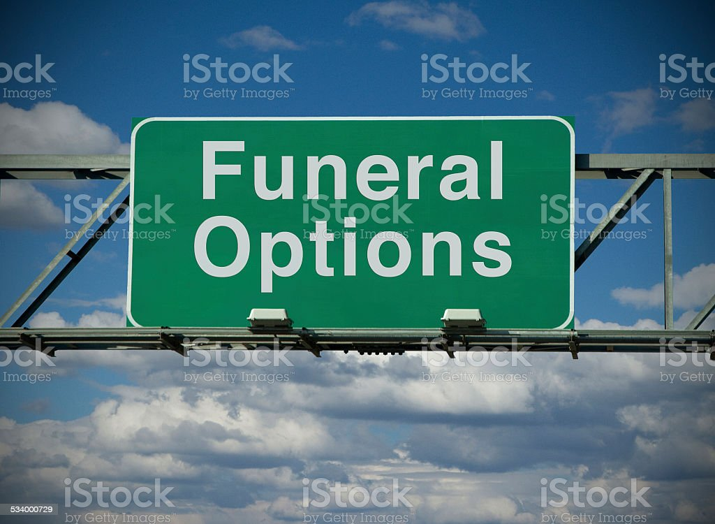 Funeral Options stock photo