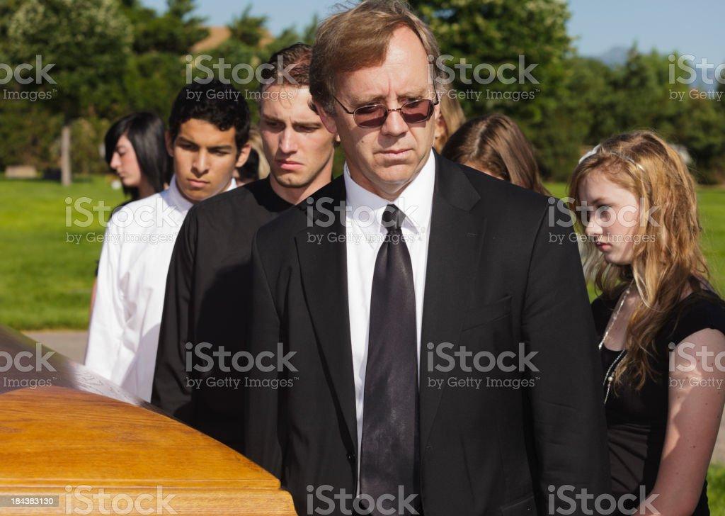 Funeral Pallbearers stock photo