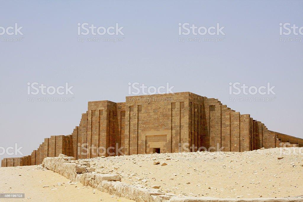 funerary complex of djoser,Saqqara Pyramid Djoser Mortuary Temple stock photo