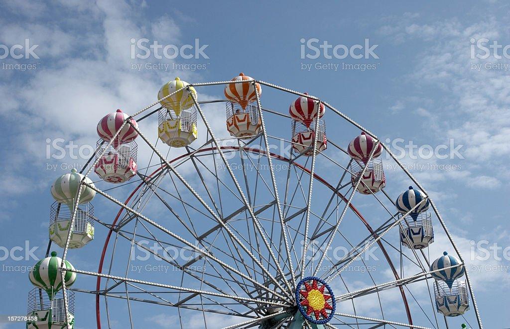 Funfair ride ferris wheel top royalty-free stock photo