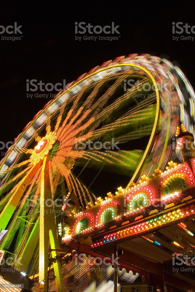 Funfair Wheel stock photo