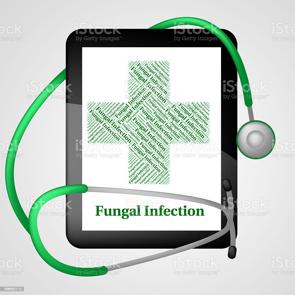 Fungal Infection Represents Poor Health And Affliction stock photo