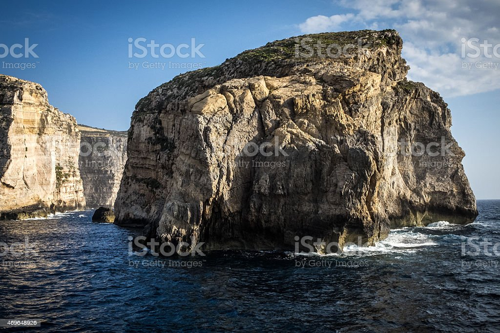 Fungus Rock, Dwejra, Gozo, Malta stock photo