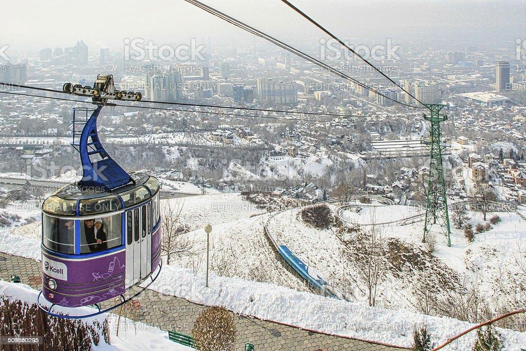 Funicular in Almaty, Kazakhstan stock photo