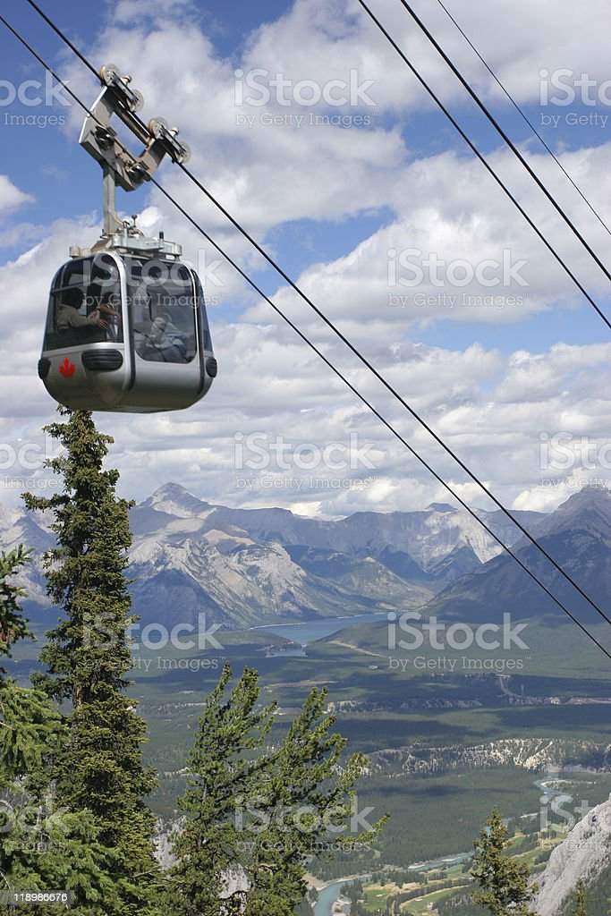 Funicular in Canadian Rockies, Bow Valley stock photo