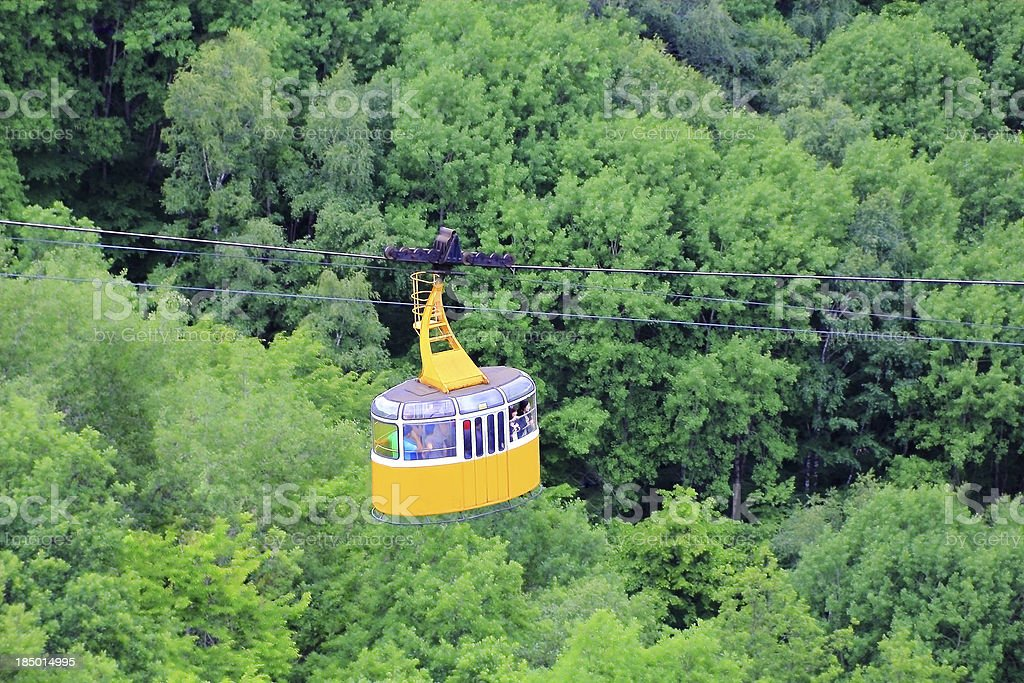 Funicular in Caucasus mountains royalty-free stock photo
