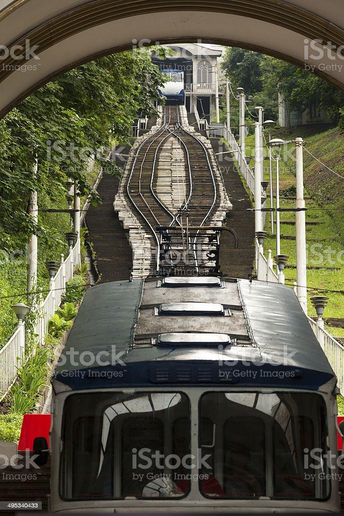 Funicular in Kyiv, Ukraine royalty-free stock photo