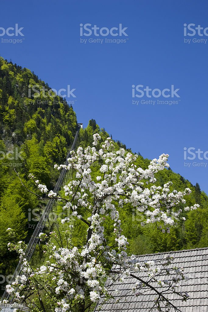 funicular railway stock photo