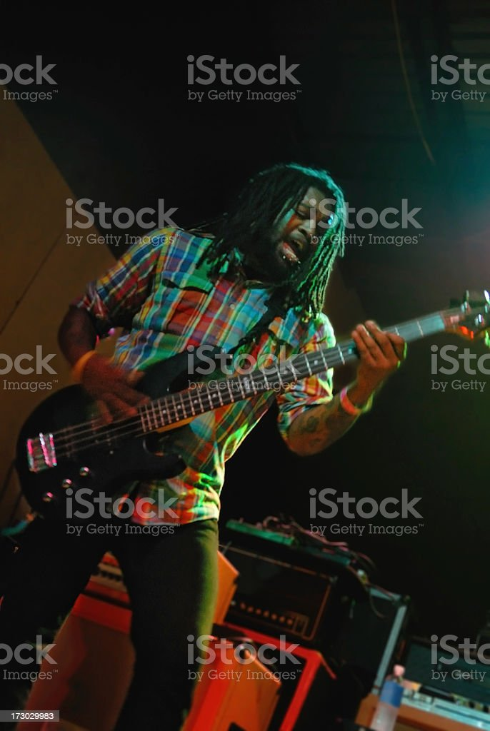 Funky Bassist stock photo