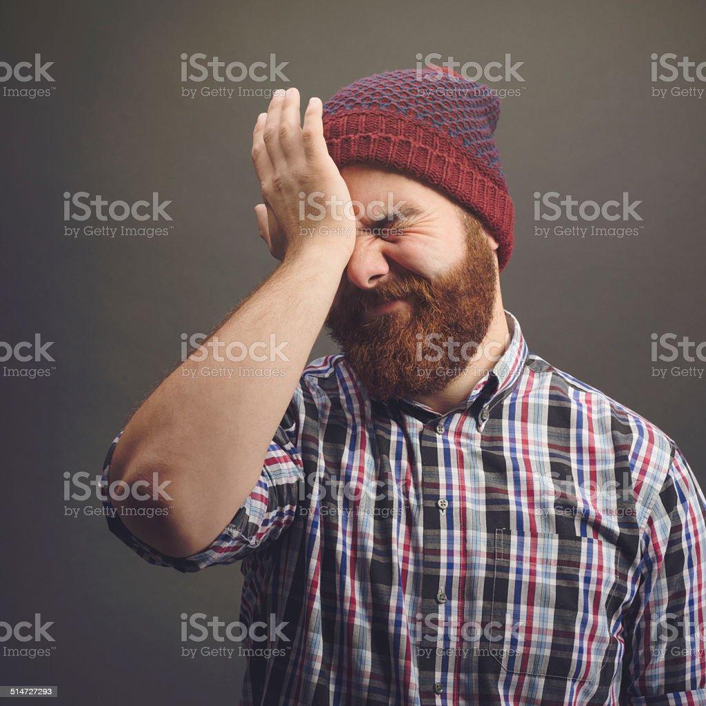Funky bearded man stock photo