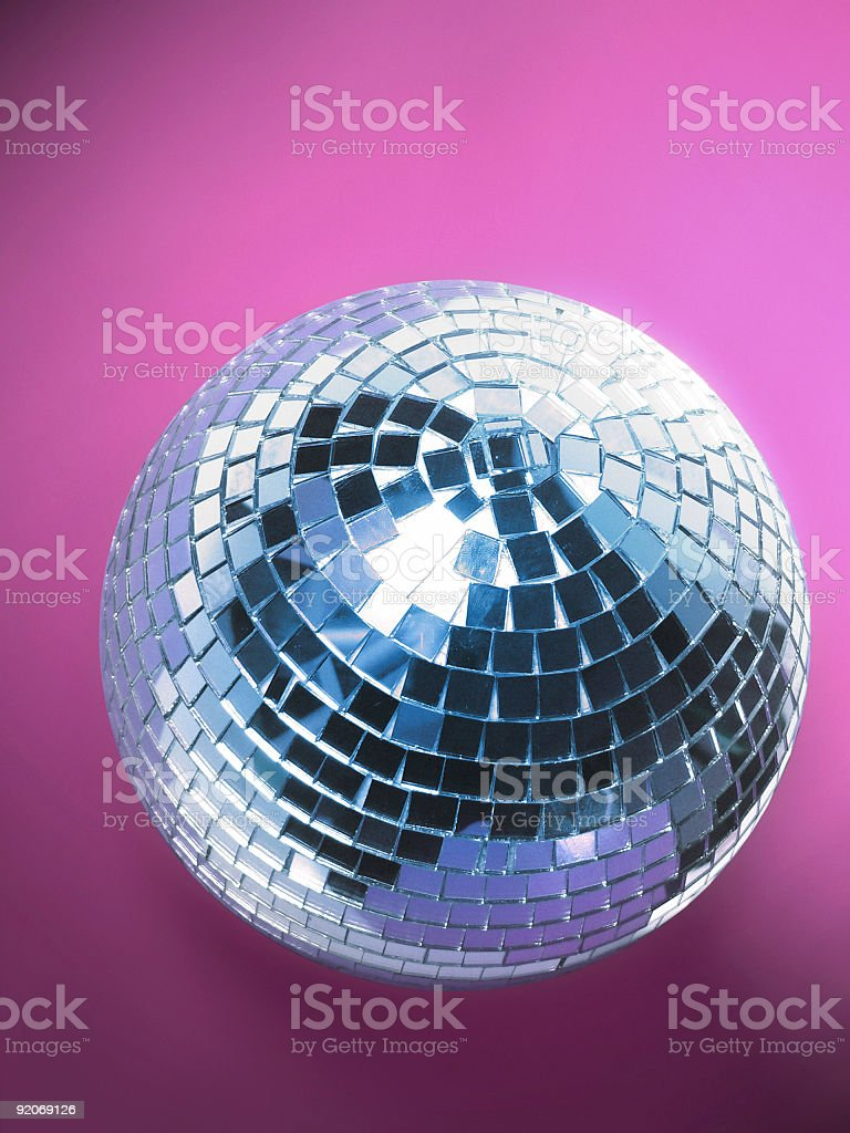Funky Blue and Pink Disco ball stock photo