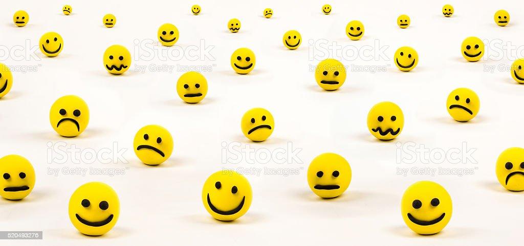 Funky bright trendy emoticons stock photo