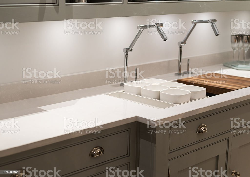 Funky Faucet Kitchen stock photo