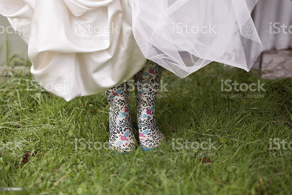 Funky Gumboots royalty-free stock photo