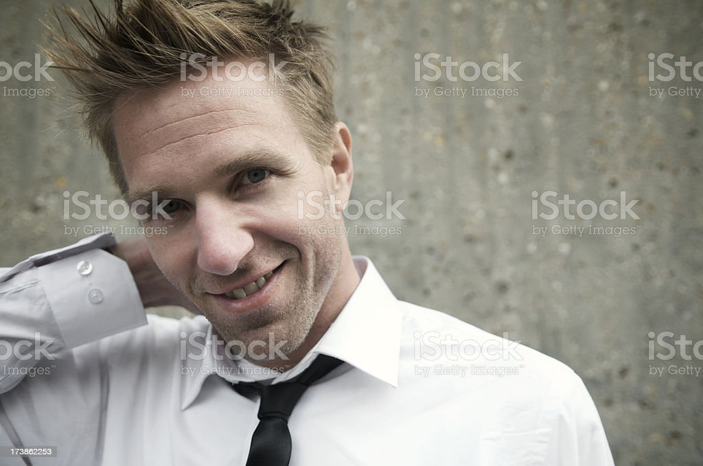 Funky Guy Smiles for Portrait royalty-free stock photo