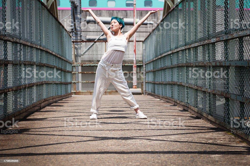 Funky Japanese Girl stock photo