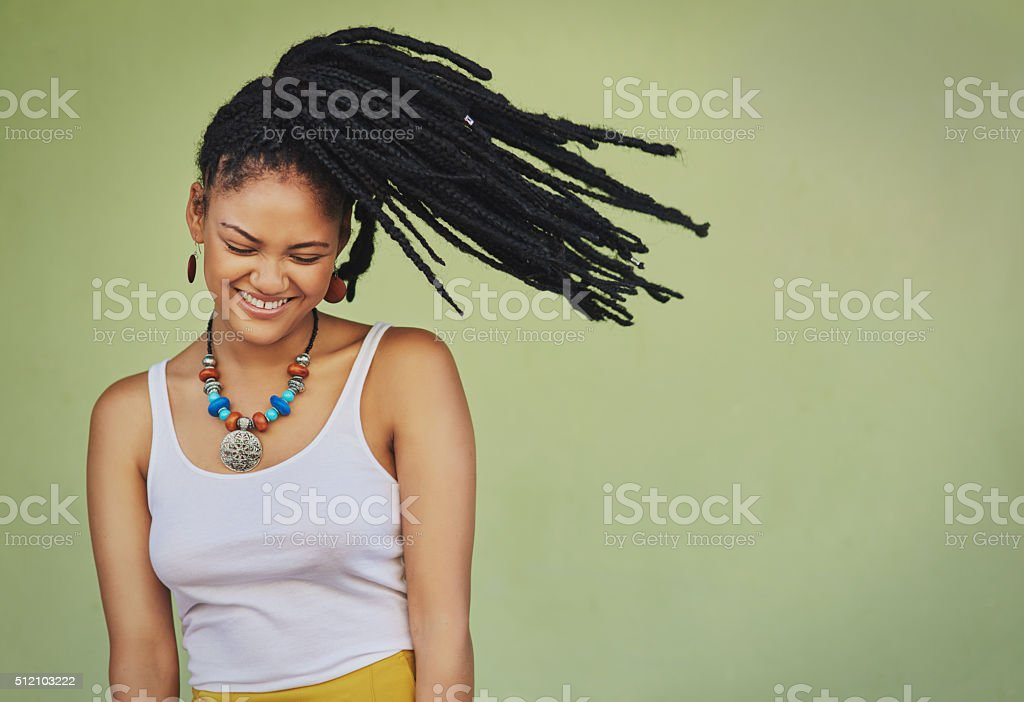 Funky meets femininity stock photo