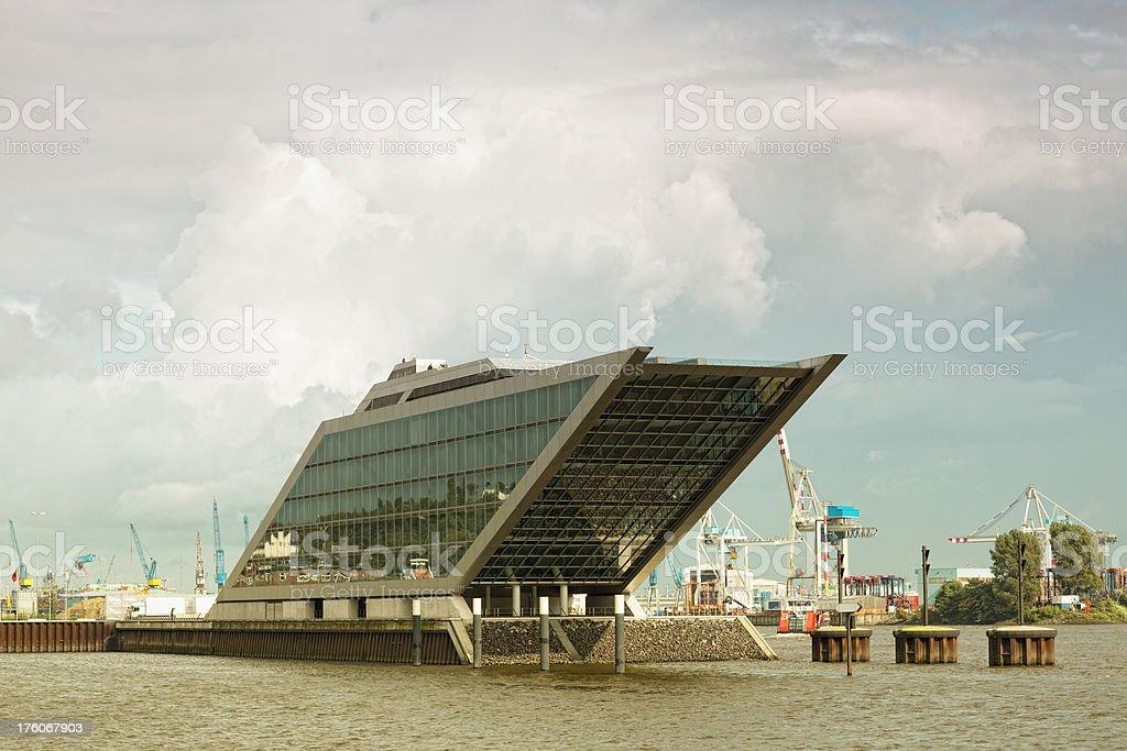 funky modern office port hamburg, germany stock photo