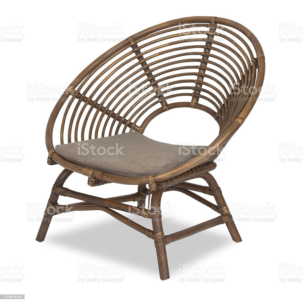 Funky Recliner in wood royalty-free stock photo