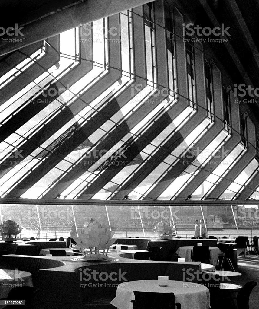 Funky restaurant interior stock photo