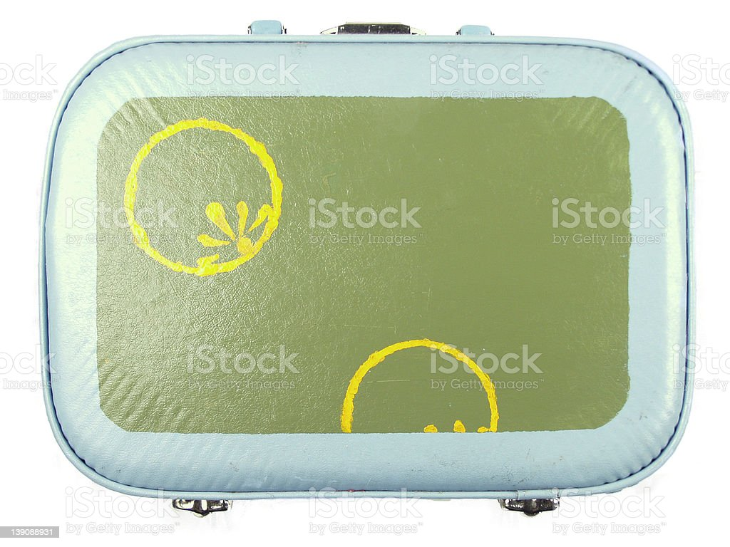 funky retro lunchbox / suitcase royalty-free stock photo