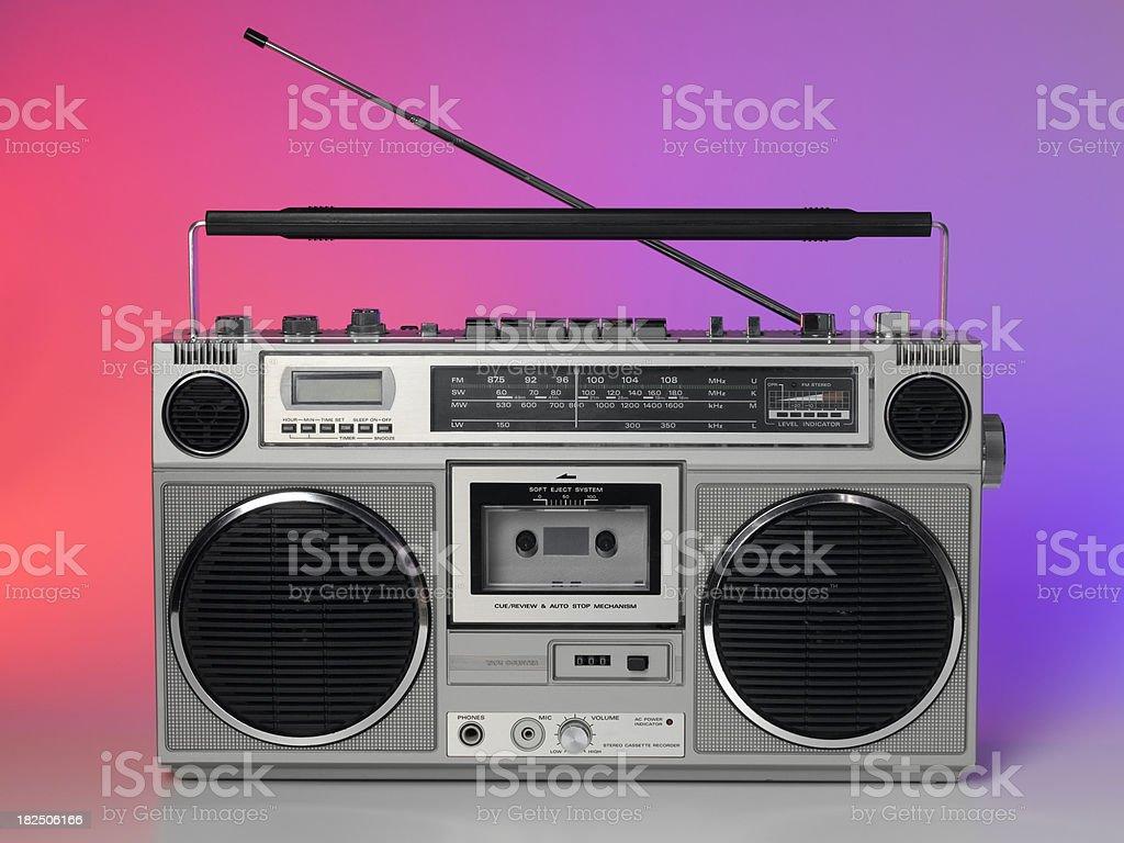 funky retro stereo stock photo