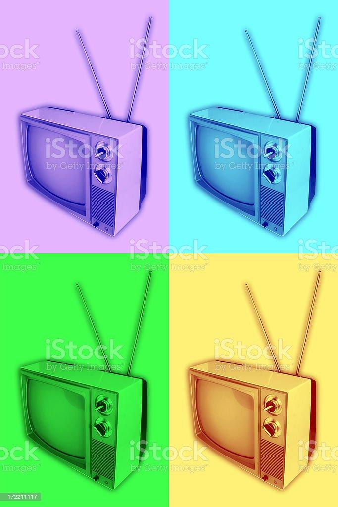 Funky Retro TV Valu-Pak royalty-free stock photo