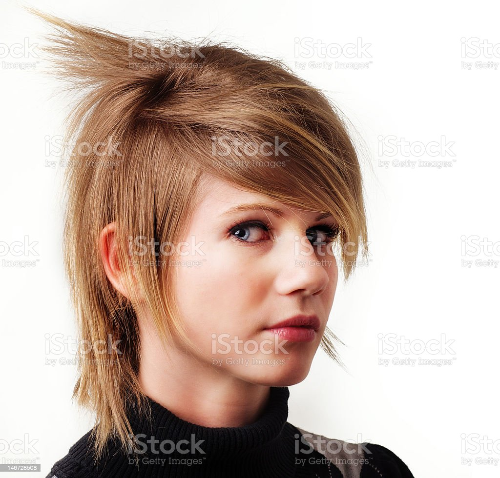 Funky trendy hair style royalty-free stock photo