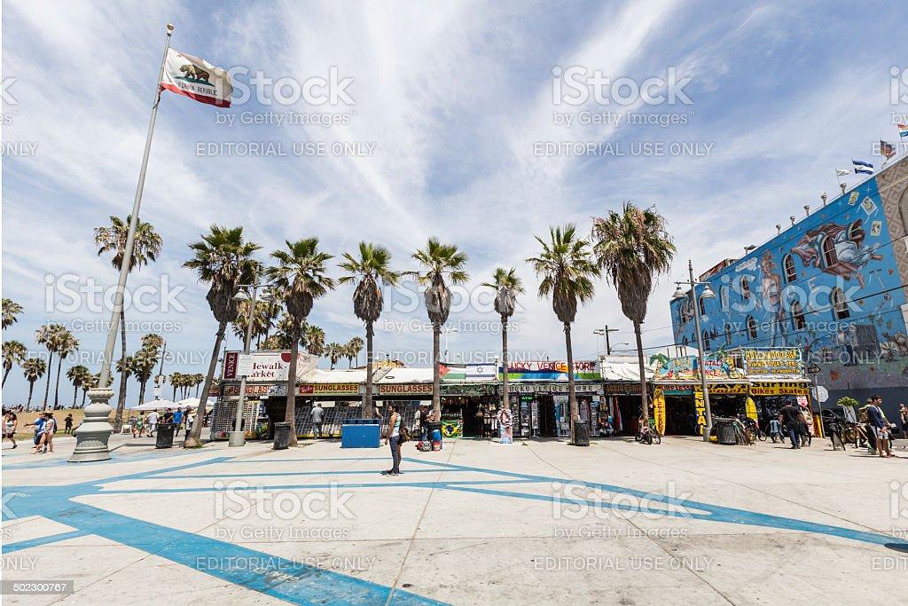 Funky Windward Plaza at Venice Beach California stock photo