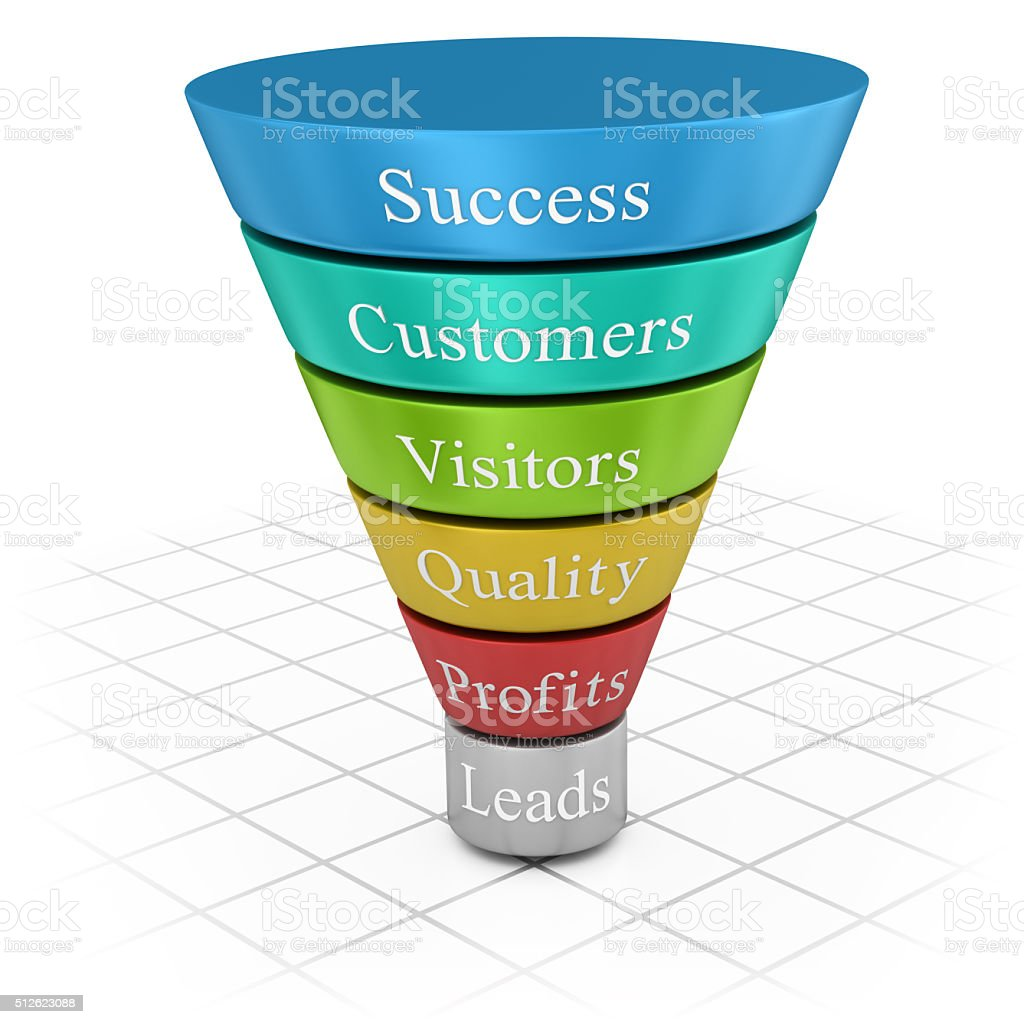 Funnel Chart stock photo