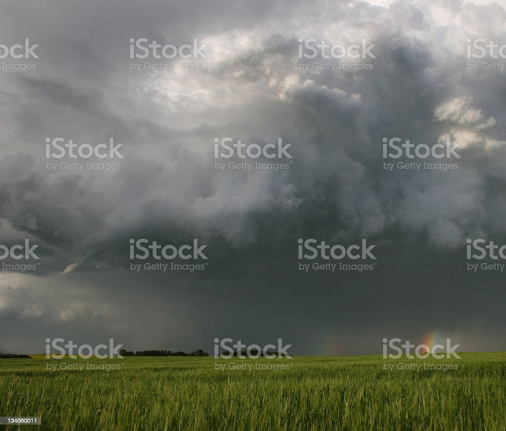 Funnel Cloud on the Great Plains royalty-free stock photo