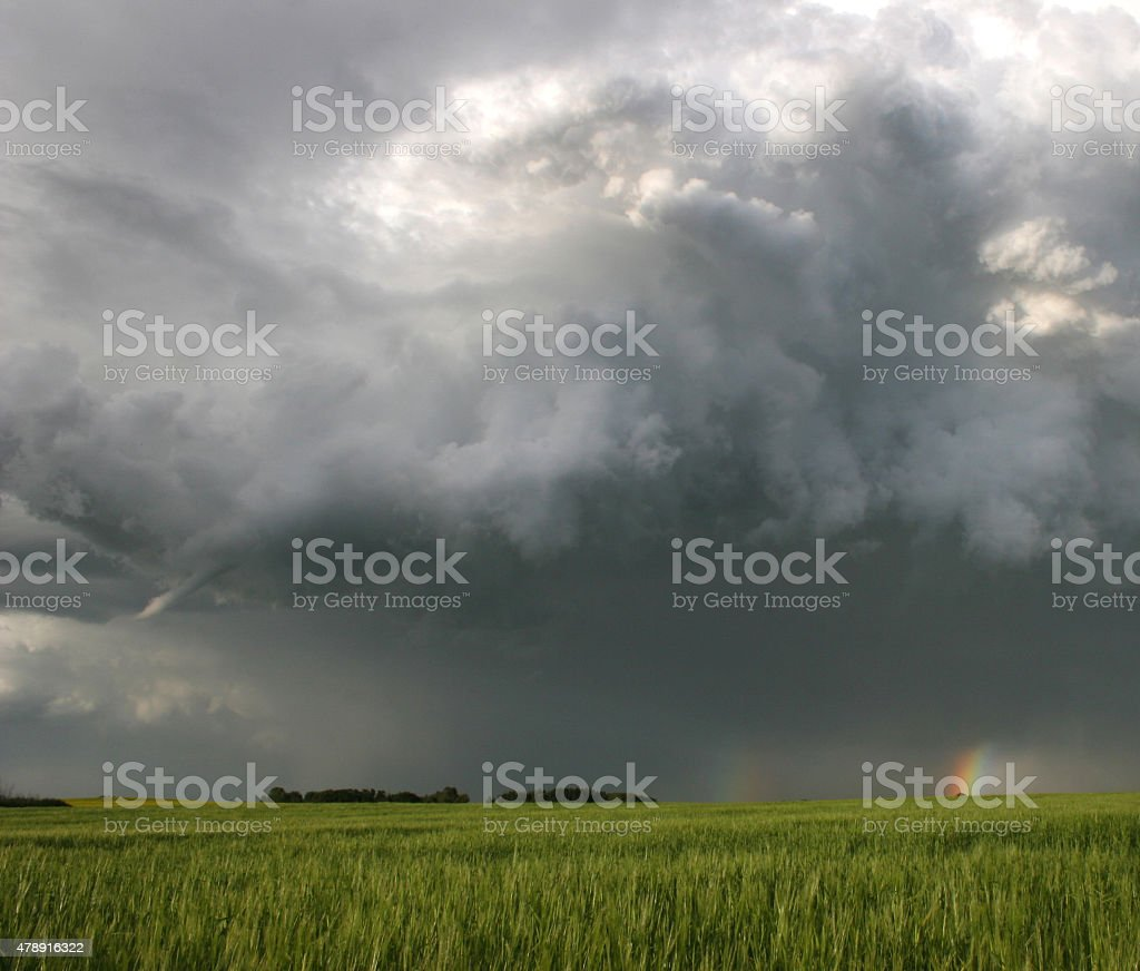 Funnel Cloud on the Great Plains stock photo