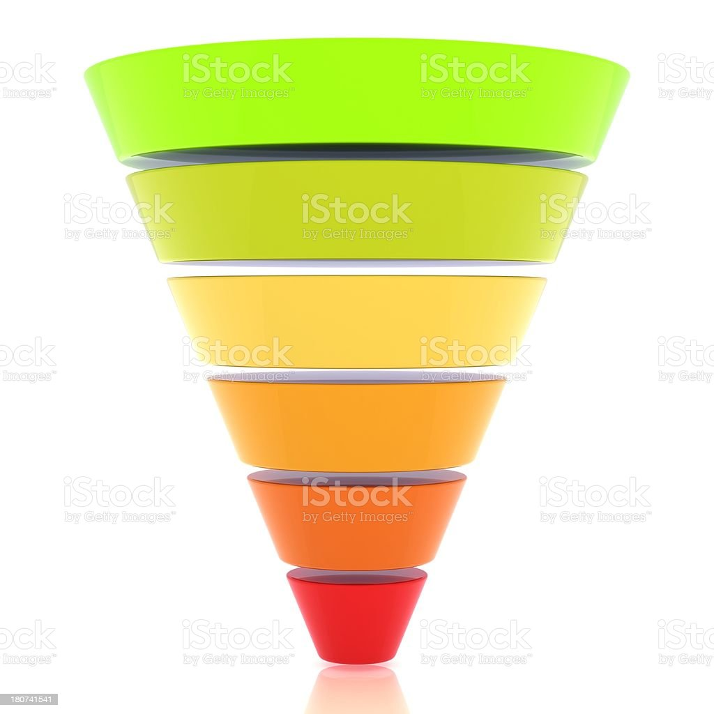 Funnel Graph stock photo