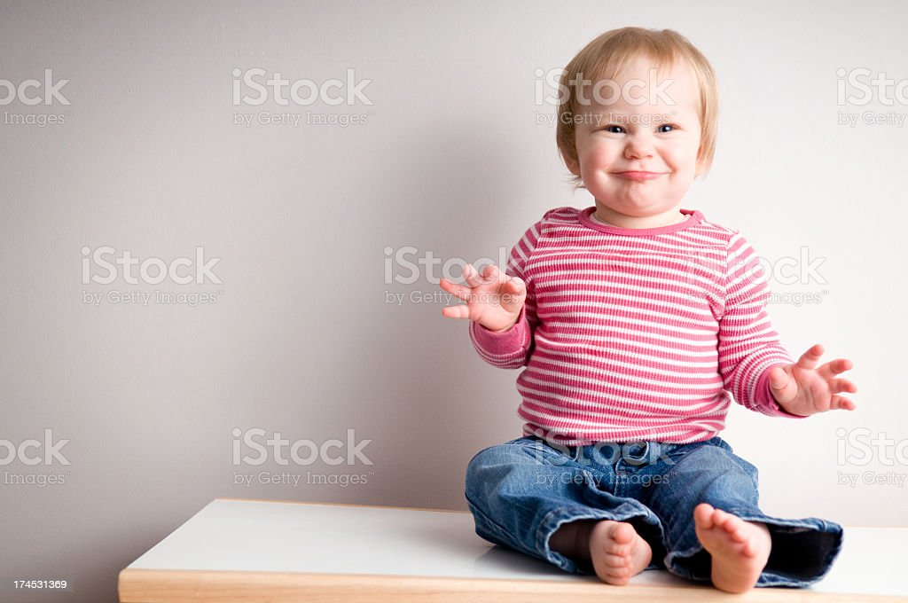 Funny Baby Girl royalty-free stock photo