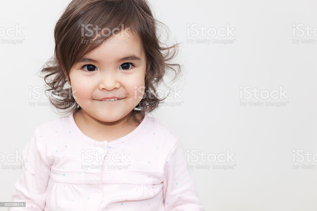 Funny Baby Girl stock photo