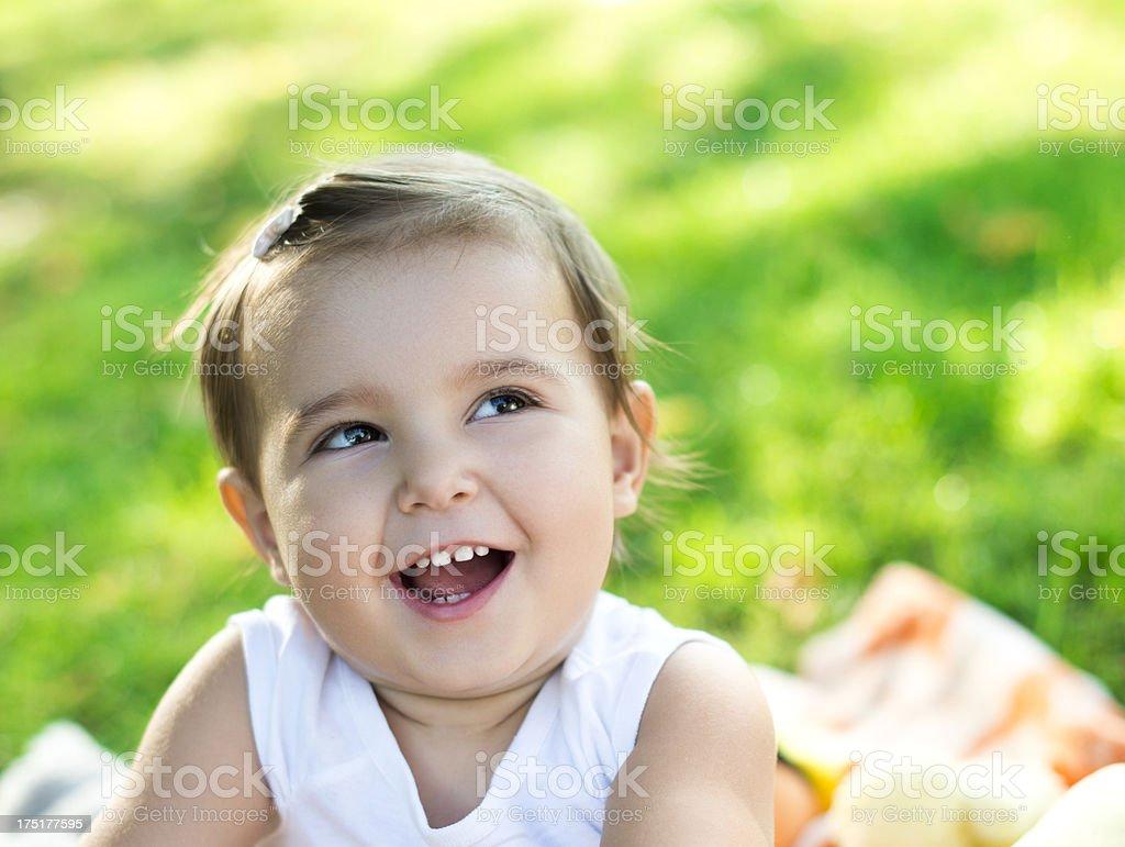 Funny baby royalty-free stock photo