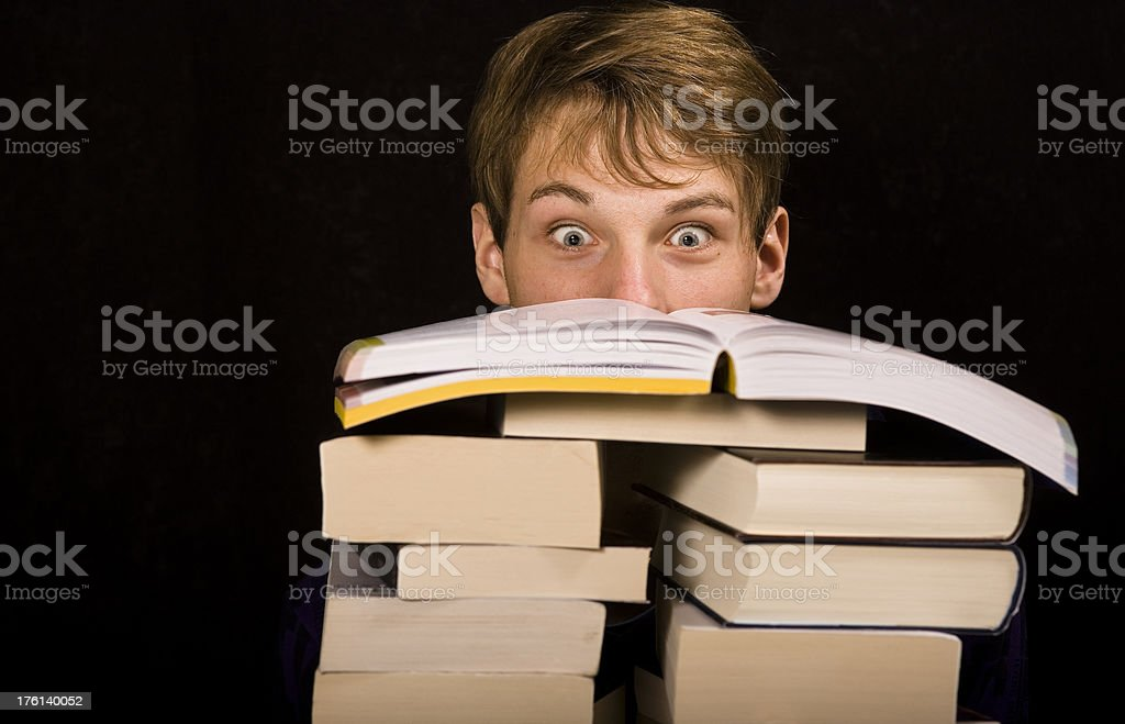 funny bookworm royalty-free stock photo