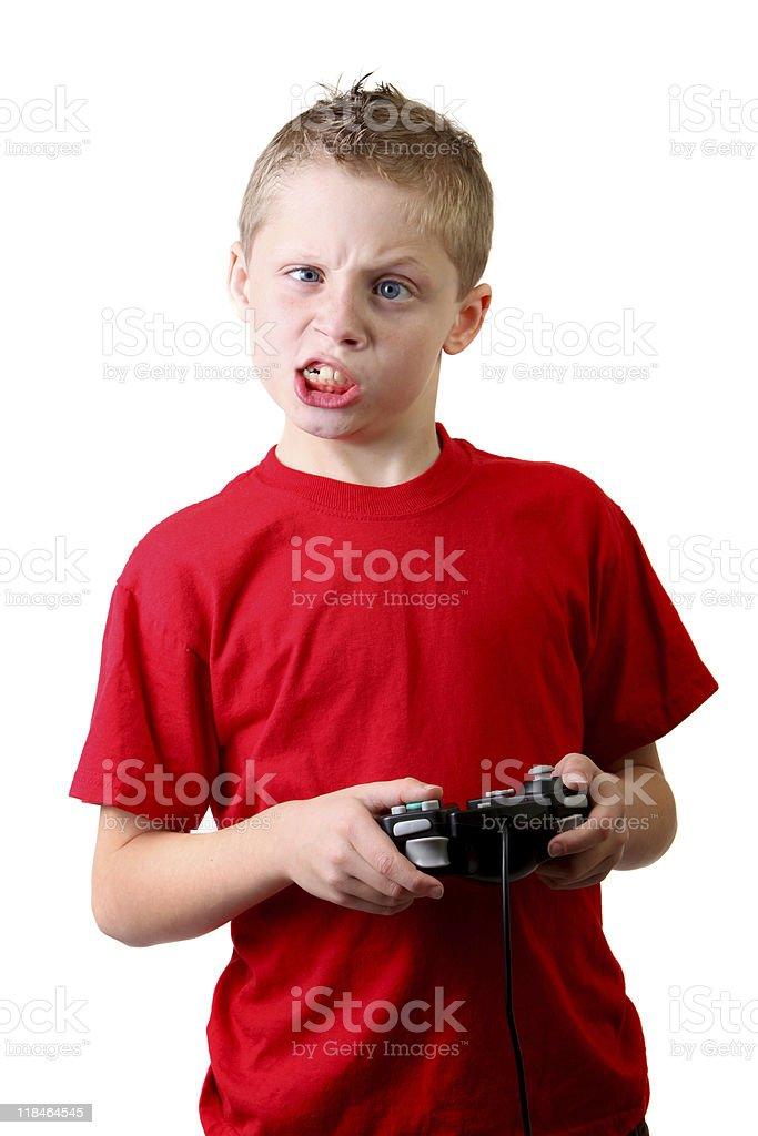 funny boy gamer stock photo
