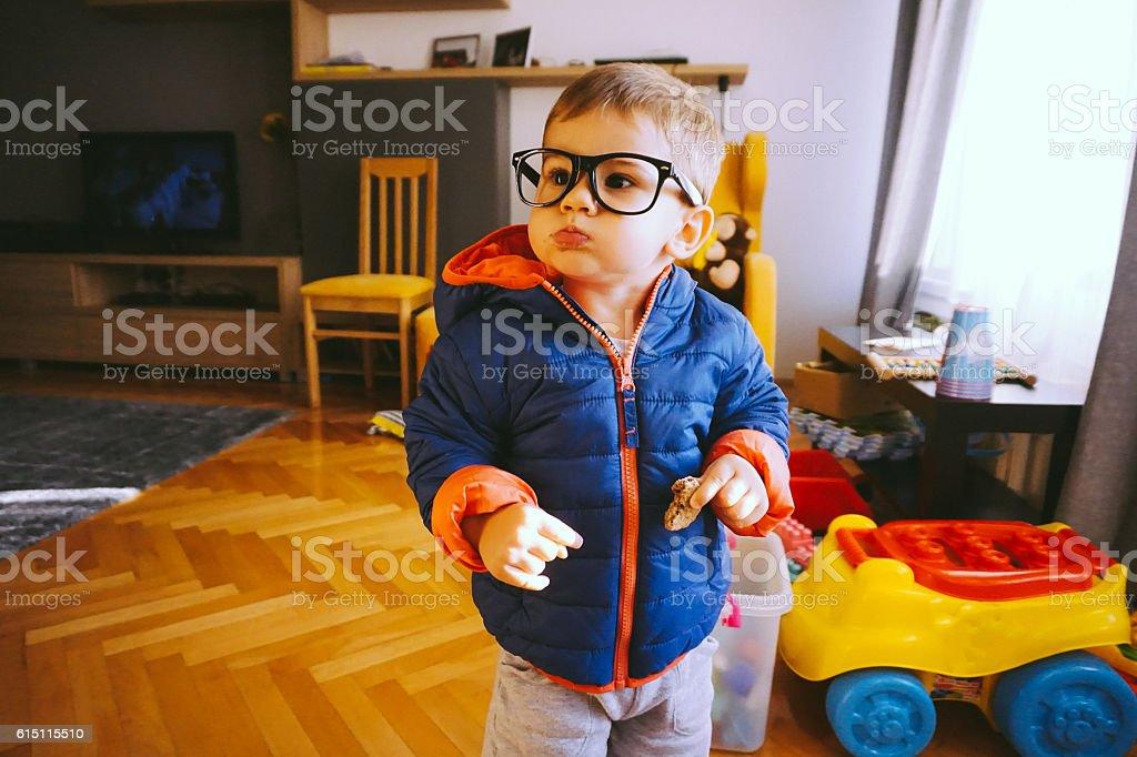 Funny boy stock photo
