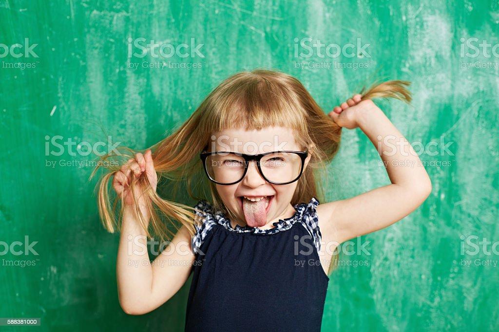 Funny brat stock photo