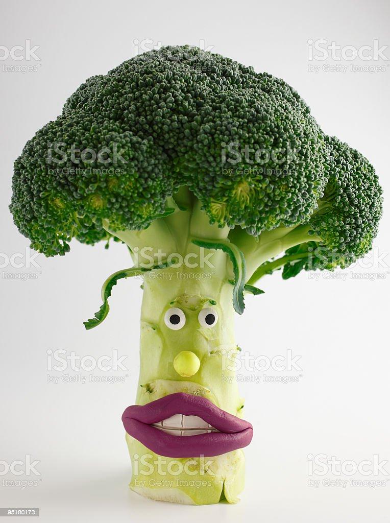funny broccoli royalty-free stock photo