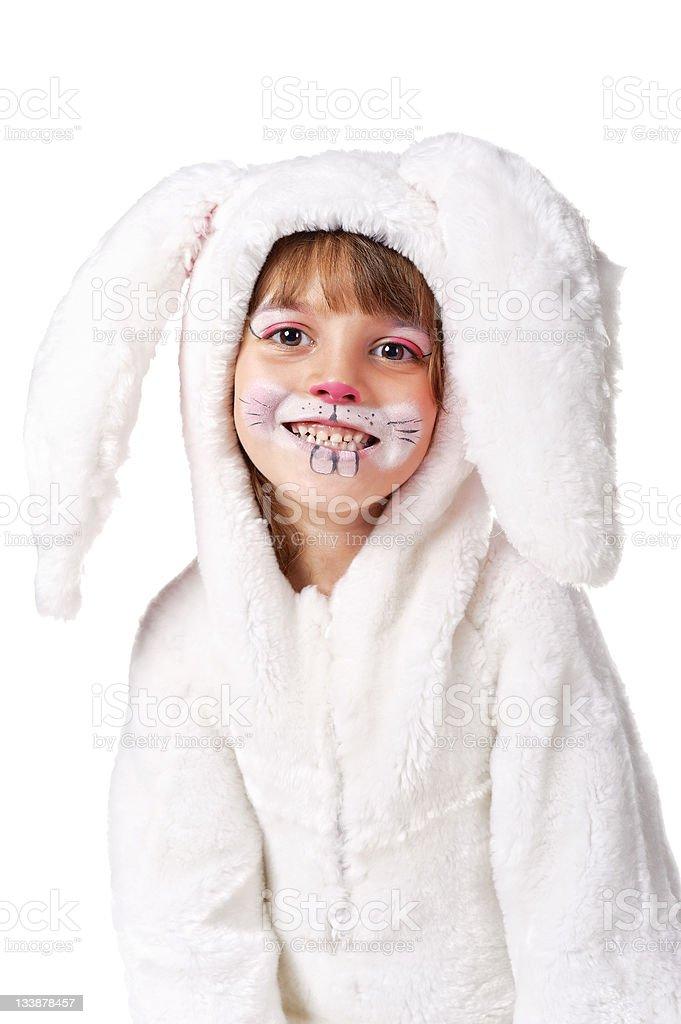 Funny Bunny-girl royalty-free stock photo