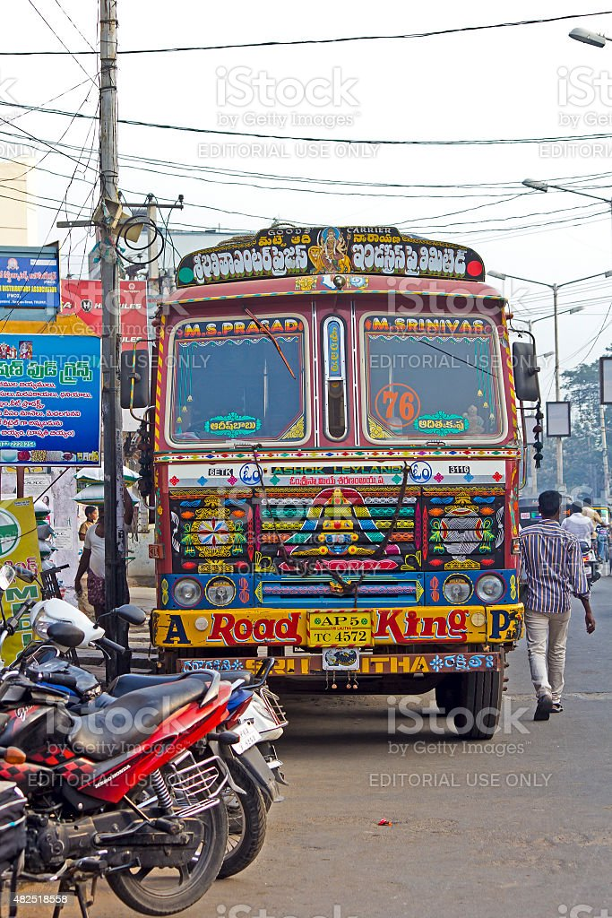 Funny bus stock photo