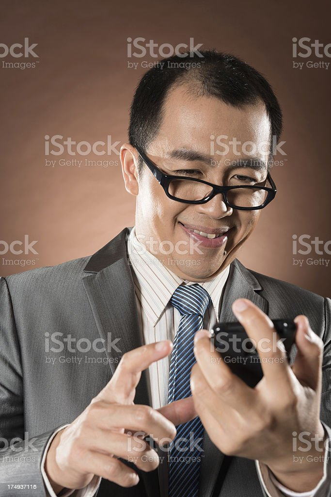 funny businessman royalty-free stock photo