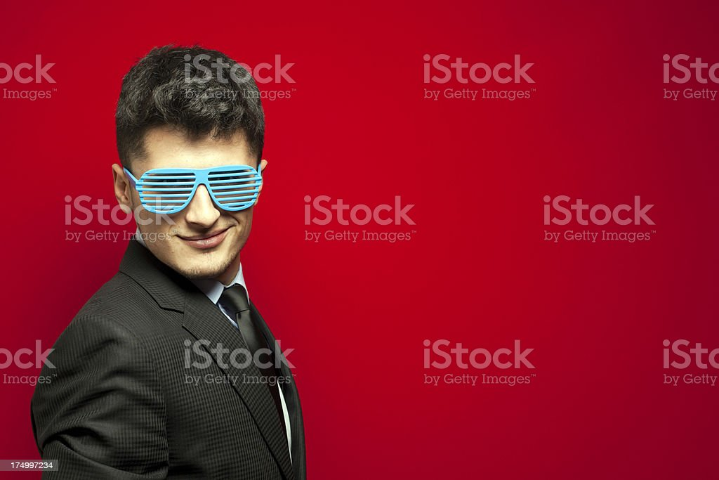 Funny Businessman - You Can Trust Me ? stock photo
