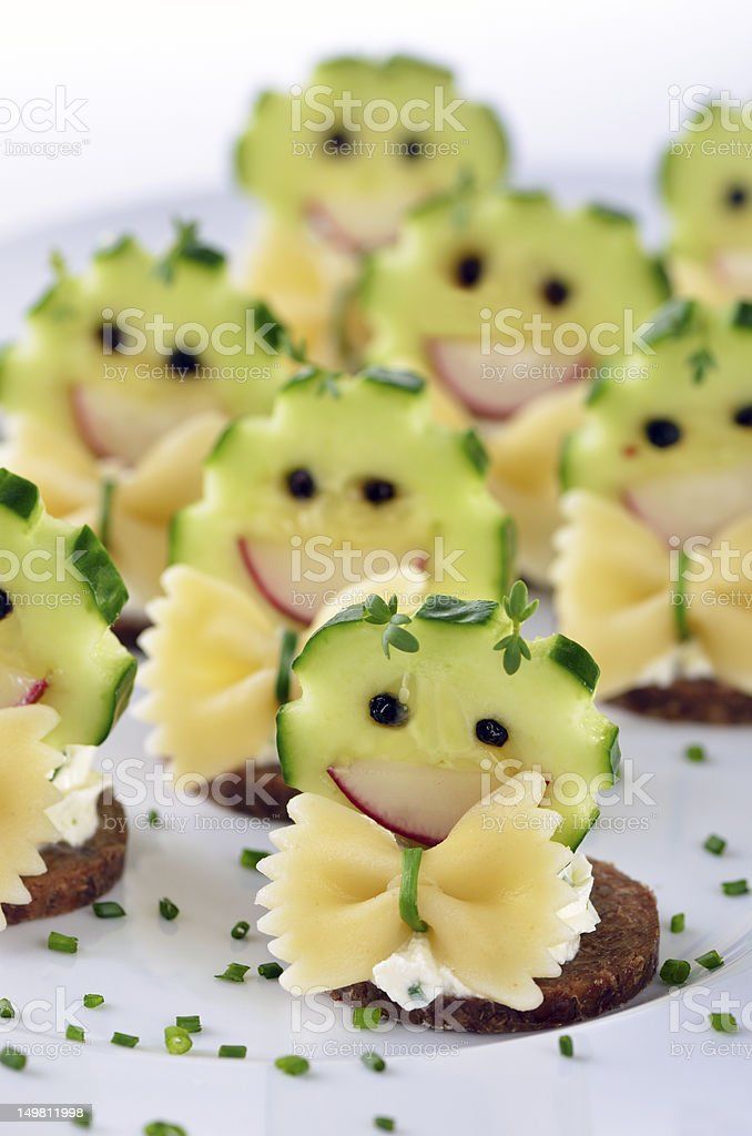 Funny cheese morsels royalty-free stock photo