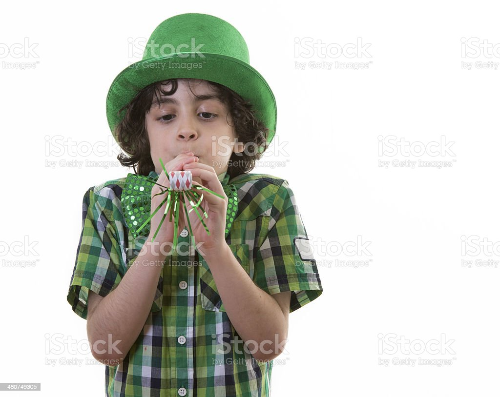 Funny Child during St. Patrick's Day royalty-free stock photo